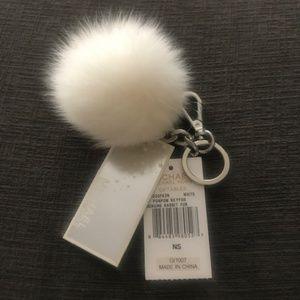 Michael Kors Rabbit Fur Pom Pom Keychain - NWT